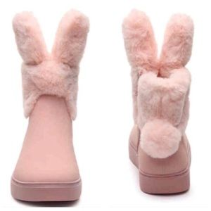 Shoes - Women's pink bunny boots